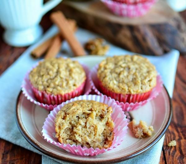 Cookit Przepis Na Pelnoziarniste Muffinki Z Jablkami I Orzechami