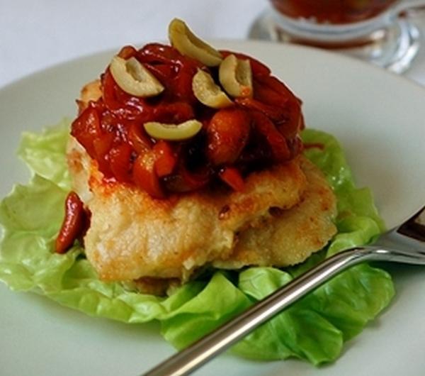 Cookit Przepis Na Dorsz W Sosie Z Pomidorów I Zielonych Oliwek