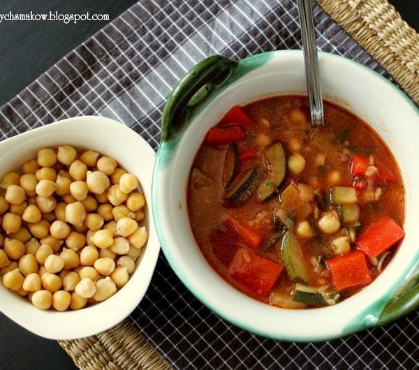 Cookit Przepis Na Zupa Pomidorowa Z Ciecierzycą I Warzywami