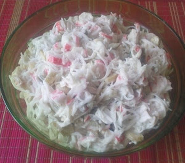 Cookit Przepis Na Salatka Z Makaronem Ryzowym I Paluszkami Surimi