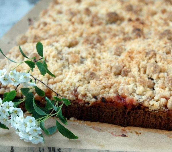 Cookit Przepis Na Orkiszowe Ciasto Z Rabarbarem