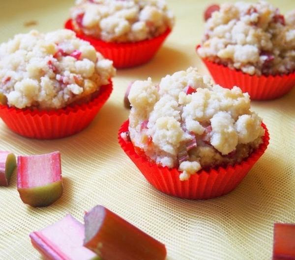 Cookit Przepis Na Muffinki Z Rabarbarem I Kruszonka