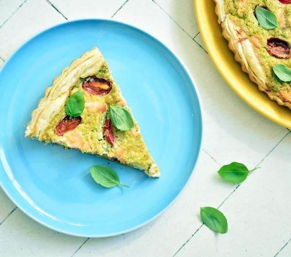 Cookit Przepis Na Tarta Z Brokułami łososiem I Pomidorami