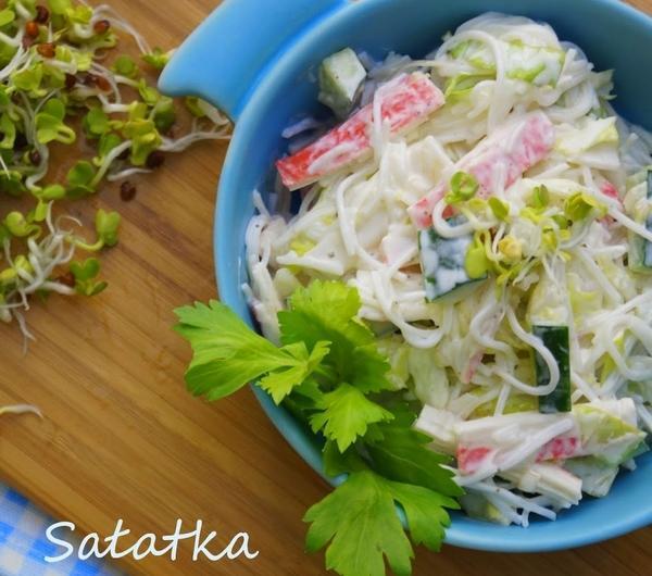 Cookit Przepis Na Salatka Z Makaronem Ryzowym I Surimi