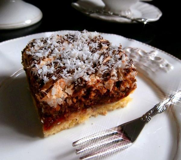 Cookit Przepis Na Kruche Ciasto Kokosowo Orzechowe Z Powidlami