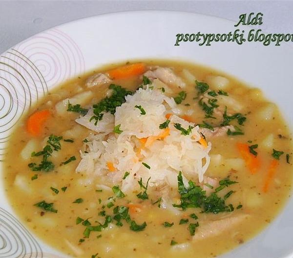 Cookit Przepis Na Zupa Grochowa Z Kiszona Kapusta