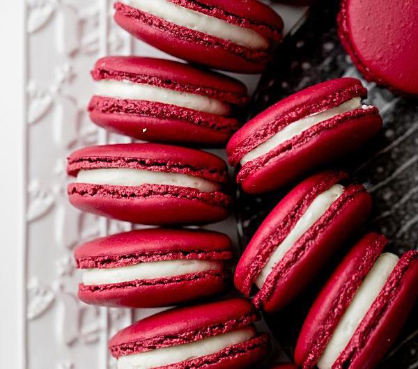 Cookit Przepis Na Makaroniki Red Velvet